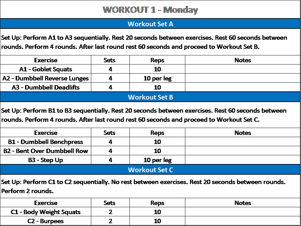 Workout 1 - Arm Fat Burning